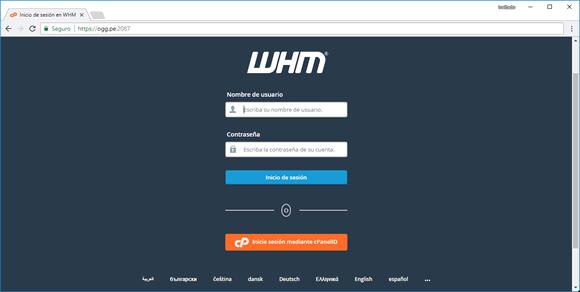 hosting reseller ingrese usuario y clave