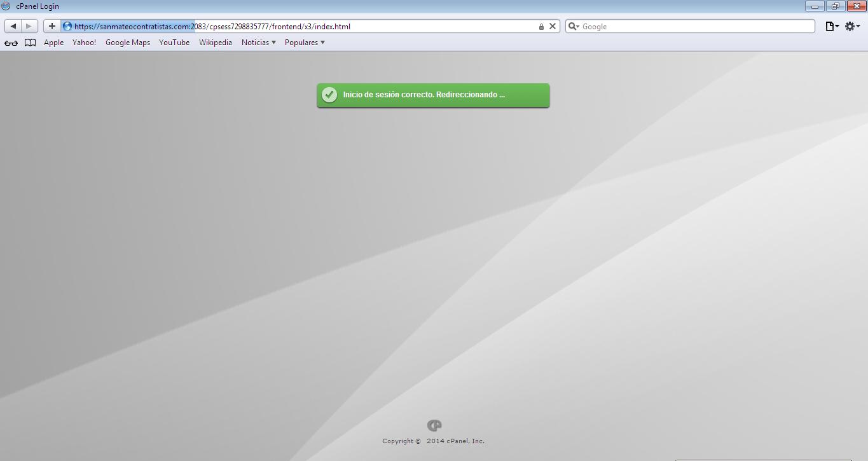 Acceso a cpanel en navegador Safari3