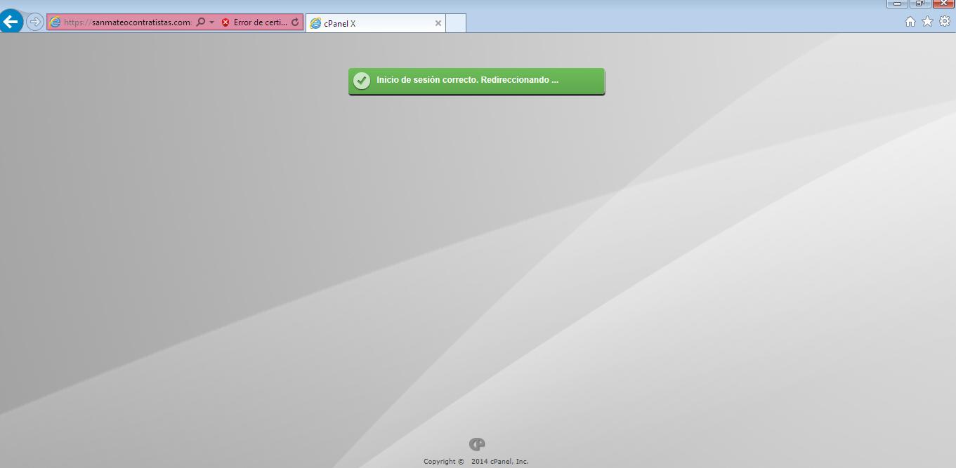 Acceso a cpanel en navegador explorer 3