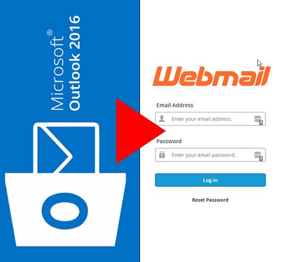 como configurar outlook 2016 para correos webmail de cpaneñl