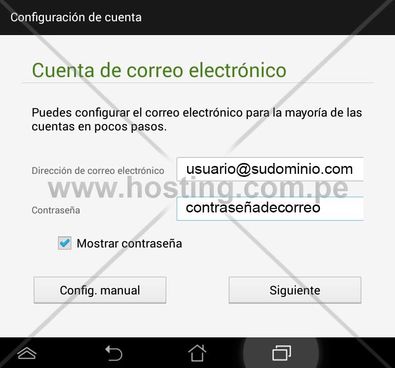 Configuracion Cpanel Correo a Outlook Celular