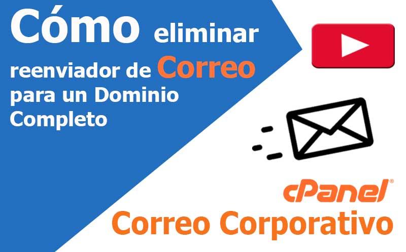 correo electronico eliminar el reenviador de dominio