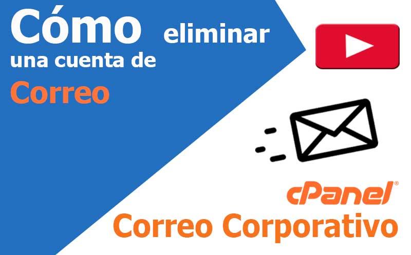 correo electronico eliminar una cuenta de-correo