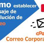 Cómo establecer un mensaje de devolución al fallo del remitente para correos electrónicos no enrutados en cPanel