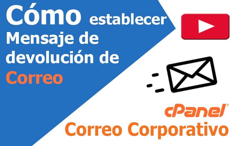 correo electronico establecer mensaje de devolucion