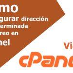Cómo configurar su dirección predeterminada en cPanel