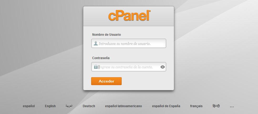 cpanel hosting. como ingresar a cpanel