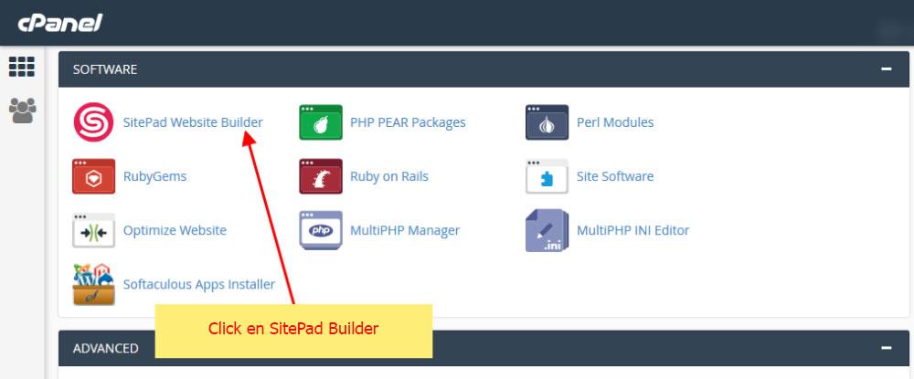 crear pagina web con sitepad