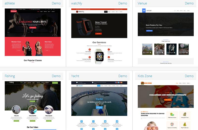 temas para paginas web
