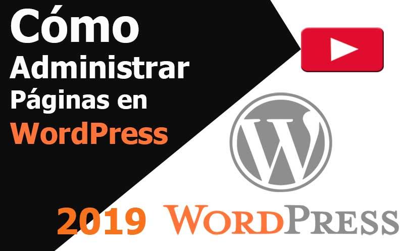 wordpress como administrar paginas