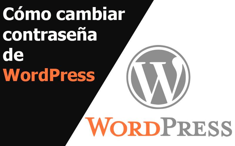 wordpress como cambiar contrasena