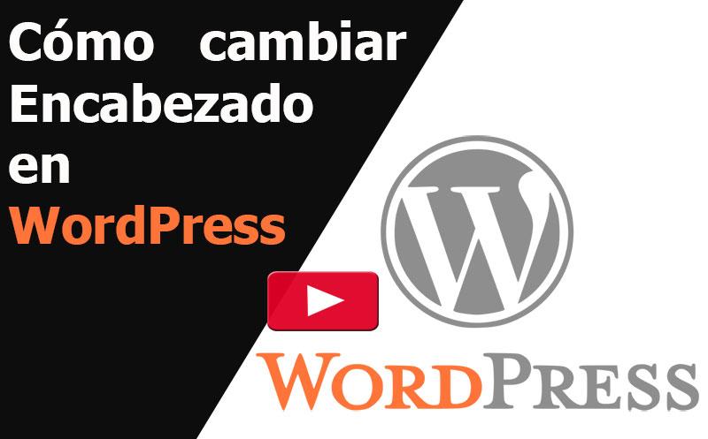wordpress como cambiar encabezado