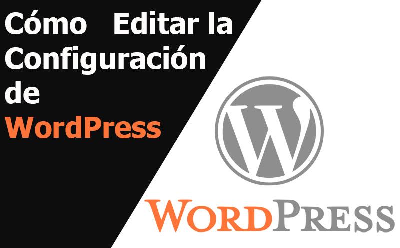 wordpress como editar la configuracion