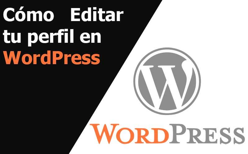 wordpress como editar tu perfil
