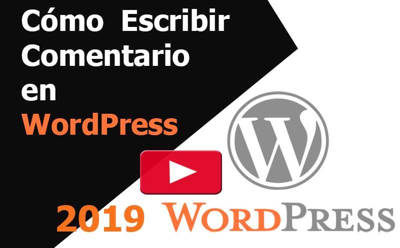 wordpress como escribir comentario