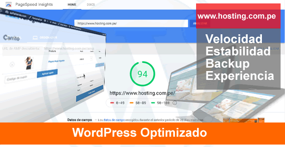 host server para wordpres  optimizado