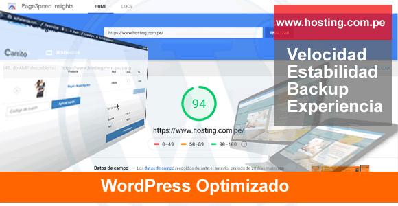 host server para wordpres  optimizado